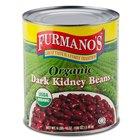 Furmano's #10 Can Organic Dark Kidney Beans in Brine - 6/Case