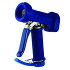 T&S MV-2522-31 Stainless Steel Front Trigger Water Gun with Blue Rubber Cover, 7/16 inch Flow Orifice, 1/2 inch Barb, and 1/2 inch NPT Threads