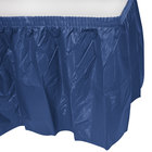 Creative Converting 10036 14' x 29 inch Navy Blue Plastic Table Skirt
