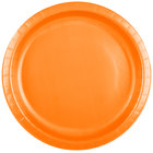 Creative Converting 50191B 10 inch Sunkissed Orange Paper Plate - 240/Case