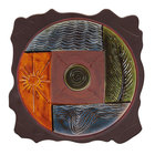 Elite Global Solutions V1515 Artist 15 inch Square 5 Earth Elements Patterned Melamine Platter