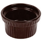 Tablecraft CW1610MIS 10.5 oz. Midnight Speckle Cast Aluminum Souffle Bowl with Ridges