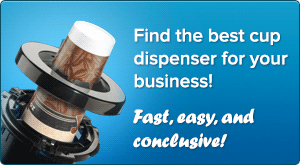 Looking for a cup dispenser? We make it easy to find the dispenser that is perfect for your business!