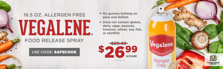 Vegalene Allergen Free Food Release Spray