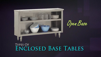 Advance Tabco Enclosed Base Tables Overview
