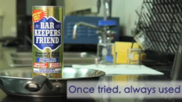 Bar Keepers Friend on Cookware
