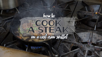 how to cook skirt steak in cast iron skillet
