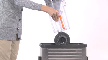 Cleaning the Dirt Cup on the Hoover Task Vac Bagless Vacuum Cleaner