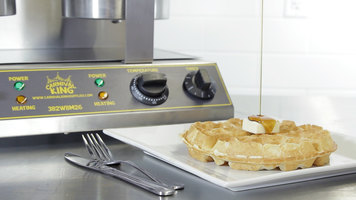 Carnival King Double Belgian Waffle Maker