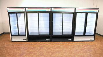True Glass Door Merchandiser Refrigerators