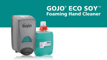 GOJO® DPX Eco Soy Dispenser and Foaming Hand Cleaner