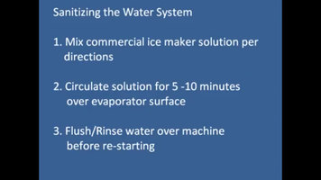 Hoshizaki KM Series Ice Machines: How to Sanitize the Water System