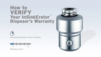 InSinkErator Garbage Disposals: How to Verify Warranty