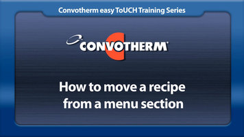 Cleveland Convotherm: Moving a Recipe