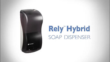 San Jamar Rely Hybrid Electronic Touchless Soap Dispenser Changing