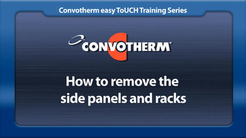 Cleveland Convotherm: Removing the Side Panels and Racks