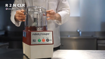 Robot Coupe R2NCLR Combination Continuous Feed Food Processor with 3 Qt. Clear Bowl