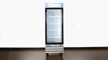 Avantco Swing Glass Door Merchandiser Refrigerator