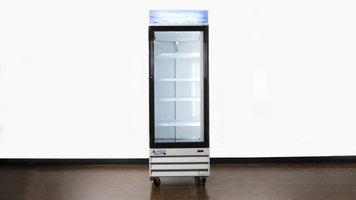 Avantco Swing Glass Door Merchandiser Refrigerator