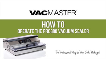 VacMaster Pro 380 External Vacuum Packaging Machine