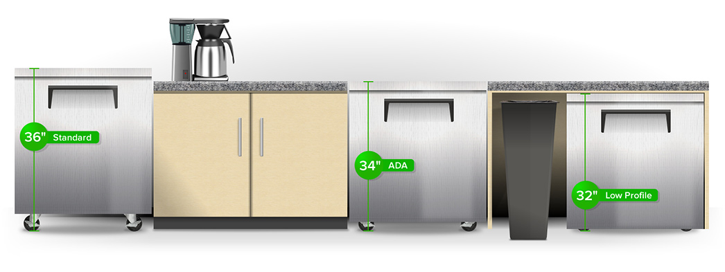 Countertop Height Fridge : Undercounter Refrigeration and Chef Base Guide