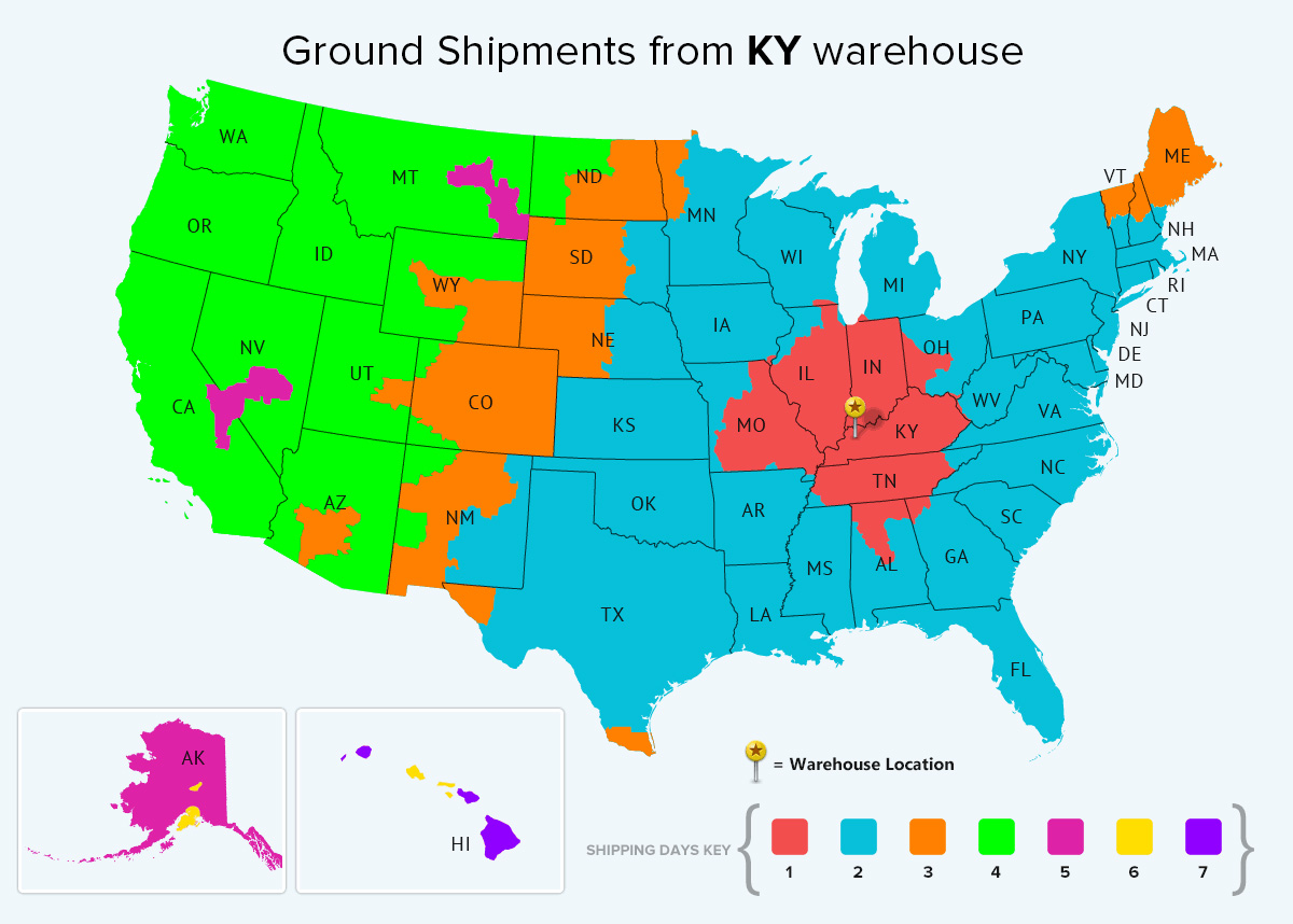 Kentucky Ground Warehouse Location Shipping