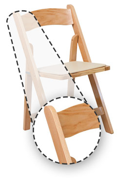wooden folding chairs provide a classic elegant look making them great for weddings and other formal events they also offer exceptional durability and
